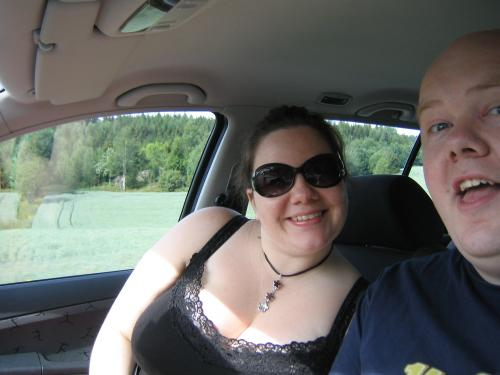 Anne Karen and Harald at the beginning of their roadtrip